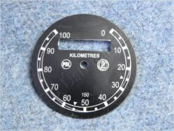 Dial, Speedometer 100km ( ČZ B,T,C ) PAL-ČZ / D=57mm