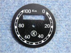 Dial, Speedometer 100km ( ČZ B,T,C ) K / D=57mm