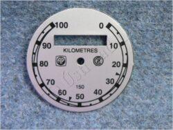 Dial, Speedometer 100km ( ČZ B,T,C ) AP-ČZ / D=57mm