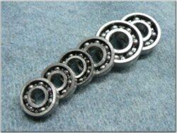 Engine bearings - set 6pcs. ( ČZ 125,150 C )