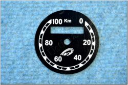 Dial, Speedometer 100km ( ČZ B,T,C ) VDO / km / D=57mm