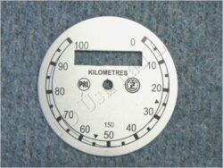 Dial, Speedometer 100km ( ČZ B,T,C ) PAL-ČZ / D=77mm