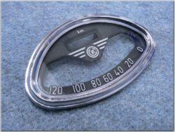 Glass w/ rim, Speedometer, 120km ( ČZ )