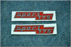 sticker SPORT 175 - set 2pcs (ČZ 175/477)