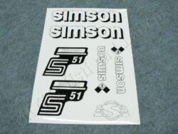 Stickers sheet SIMSON S51 ENDURO - black-white ( Simson S51 )