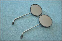 Rear view mirror assy. R.+L. circle M8X1,25 RH ( Simson 12V ) orig.