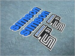 Stickers set SIMSON ELECTRONIC - blue ( Simson S51 )