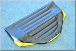 Seat cover, black-yellow ( Simson-SR )