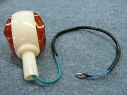 Turn signal light, oval ( Schwalbe ) [orange glass]  (550039)