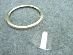 Glass w/ rim, Speedometer ( Jawa, ČZ, MZ )