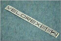 nálepka sidecaru - stříbrná ( Velorex 562 )