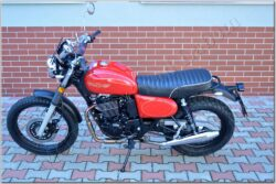 motorcycle Jawa 350 OHC SCRAMBLER - red