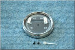 Repair kit - speedometer 90 km / h (ČZ,Tatran,Manet) black dial / 60 mm