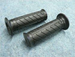 Grip, handlebar - black, L+R