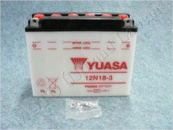 akumulátor 12V 18Ah YUASA 12N18-3 ( 206x91x164 )