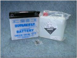 akumulátor 12V 5,5Ah Dynavolt 12N5,5-3B ( 138x61x136 )