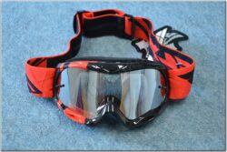 Motorcycle Goggle Zone RS - black/red ( FLY RACING ), child