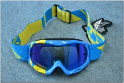 Motorcycle Goggle Zone RS - blue/yellow ( FLY RACING ), child