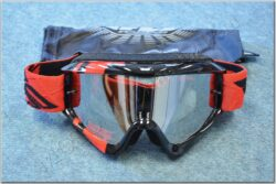 Motorcycle Goggle Zone RS - black/red ( FLY RACING )