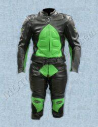 Motorcycle suit B1121, green-black ( BEL )