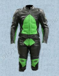 Motorcycle suit B1121, green-black ( BEL ) Size L