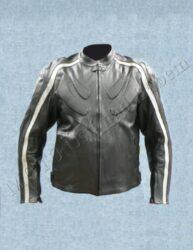 Jacket B4050, black / silvery stripe ( BEL )