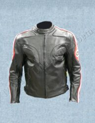 Jacket B4039, black / red-white stripe ( BEL )
