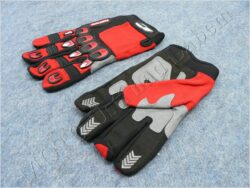 Gloves X3 - red-grey ( MZone )