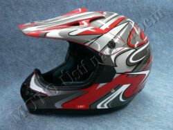 Motocross Helmet CR2 - streamline red ( Motowell )