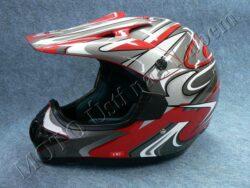 Helmet CR2 - streamline red ( Motowell ) Size L