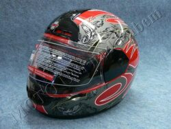 Full-face Helmet FF1 - mist red ( Motowell )  (890084M)