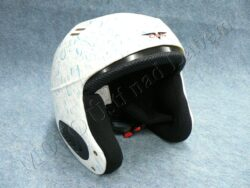 Moped Helmet , Safety Helmet VS600 - white/blue drip ( CAN ) Size S