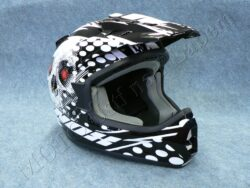 Helmet N729 - Black/white  ( NOX ) Size XL