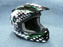 Helmet N729 - Black/green  ( NOX ) Size XXL