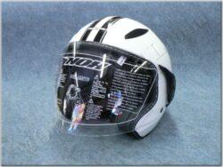 Jet Helmet N180 - white/black line ( NOX )