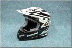 Motocross Helmet Cross Cup - white pearl / black ( Cassida )