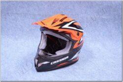 Motocross Helmet Cross Cup - white pearl / red neon ( Cassida )