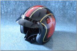 Jet Helmet JET FIBER - red / gold ( MTR )