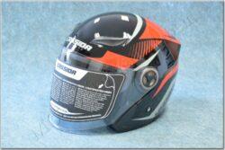 Jet Helmet Reflex - black/red/grey ( CASSIDA )
