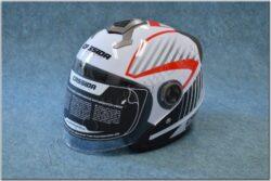 Jet Helmet Magnum - black/white/red ( CASSIDA )