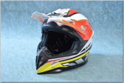 Cross Helmet X1.9 - White/black/red/yellow ( ZED ), child
