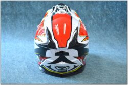 Cross Helmet X1.9 - White/black/red/yellow ( ZED ), child  (891001M)