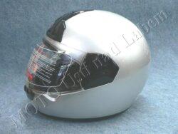 motopřilba FF1 - silver ( Motowell )