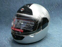 Full-face Helmet FF1 - silver ( Motowell )(890100M)