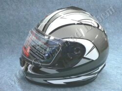Full-face Helmet FF2 - bishop black ( Motowell )