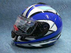 Full-face Helmet FF2 - fantasy blue ( Motowell )