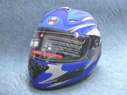 Full-face Helmet FF4 - magnetic stripe blue ( Motowell )(890180M)