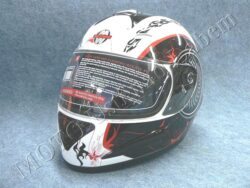 Full-face Helmet FF4 - shot white ( Motowell )  (890184M)