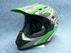 Motocross Helmet CR2 - streamline green ( Motowell )(890026M)