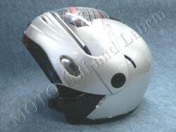 Flip-Up Helmet FU1 - silver ( Motowell )